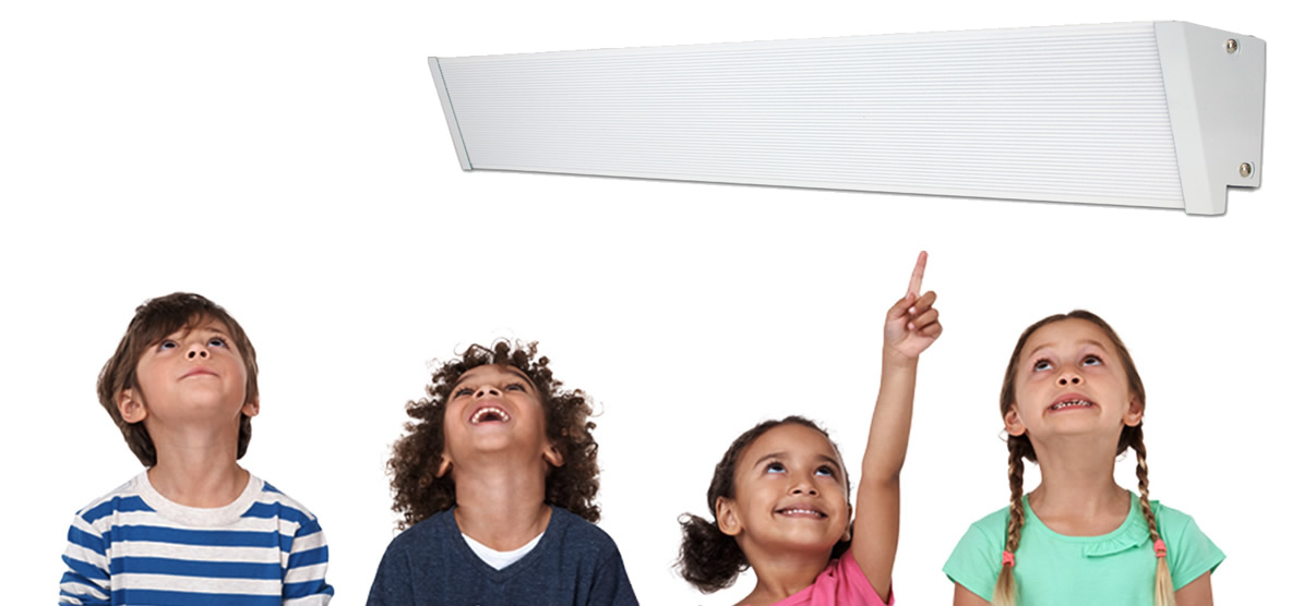 Children with Cove Heater